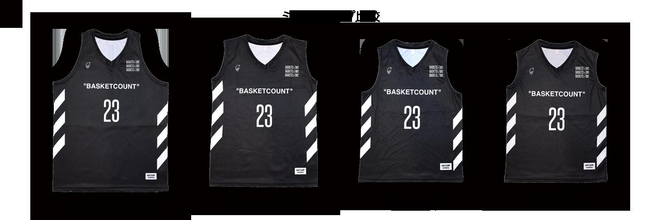 バスケのユニフォームやリバーシブルの作成ならBASKETCOUNT(バスケットカウント)